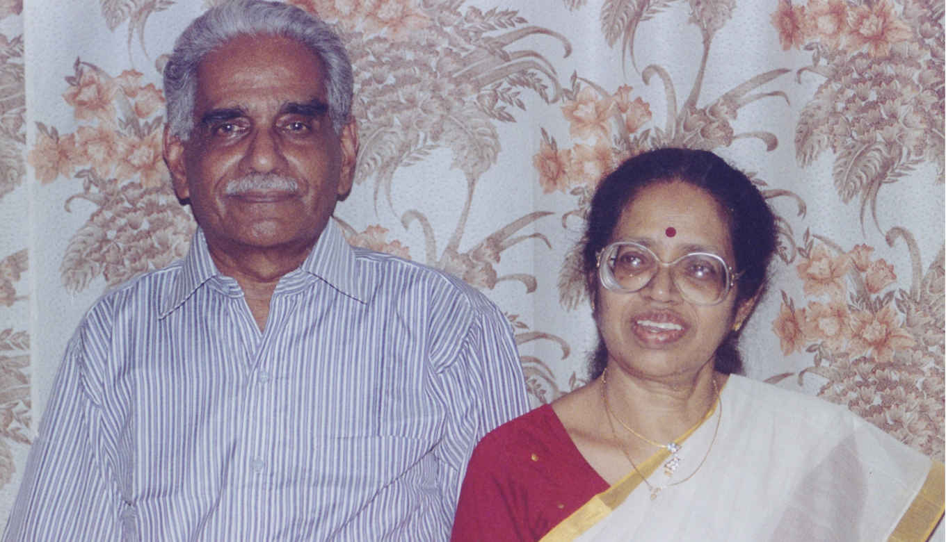 Omana and her husband Moscow Gopalakrishnan