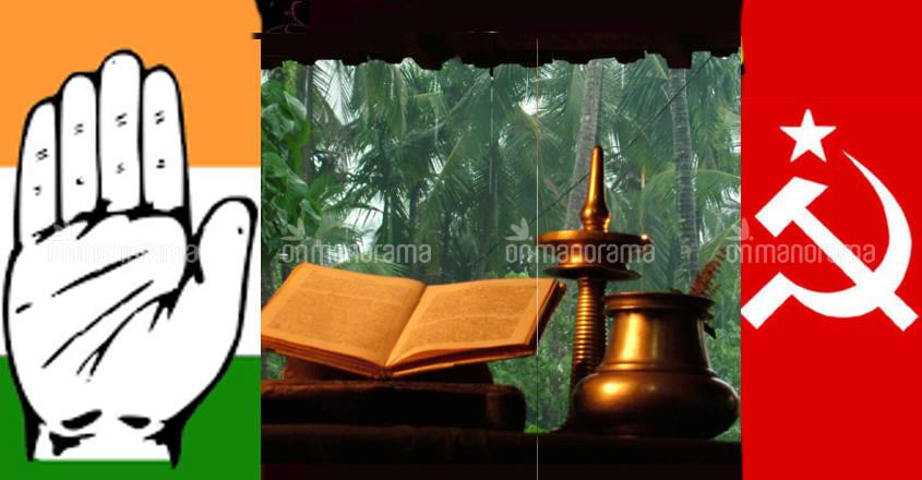 As CPM, Cong chant Rama Rama Pahimam in Kerala