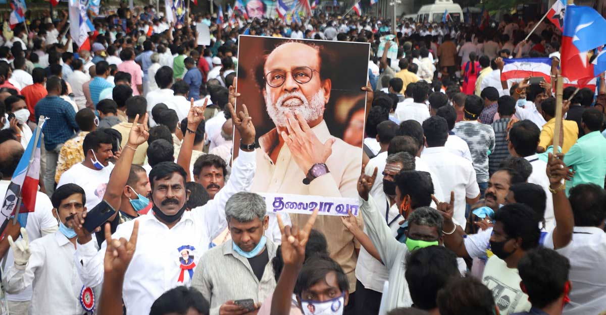 Rajinikanth fans stage protest seeking his political entry