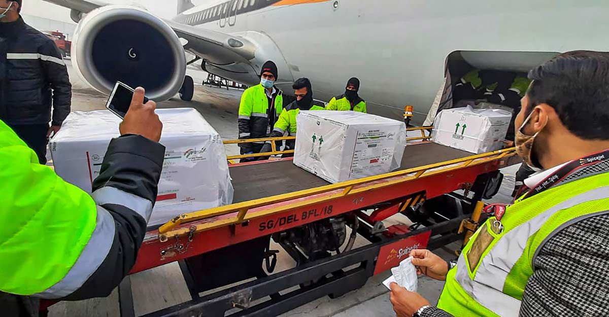 Vaccine drive set in motion as planes ferry consignments to 13 cities on Day 1
