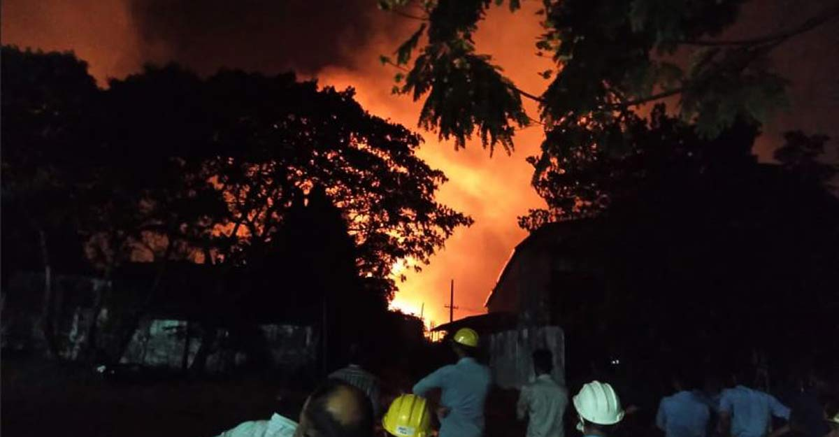 Huge fire breaks out at industrial area near Aluva