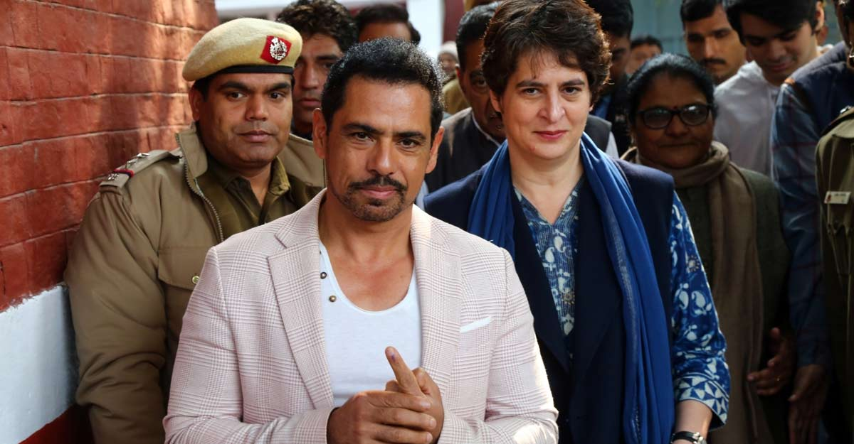 Income Tax sleuths record Robert Vadra's statement in Benami properties case