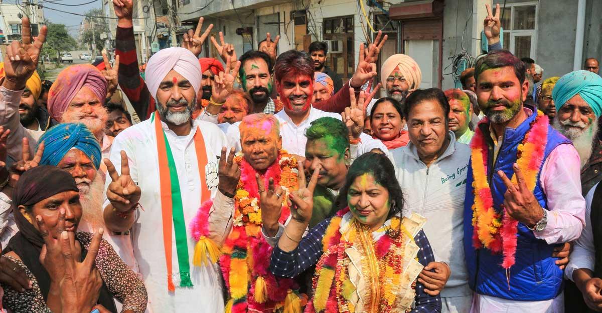 Congress sweeps municipal corporation polls in Punjab