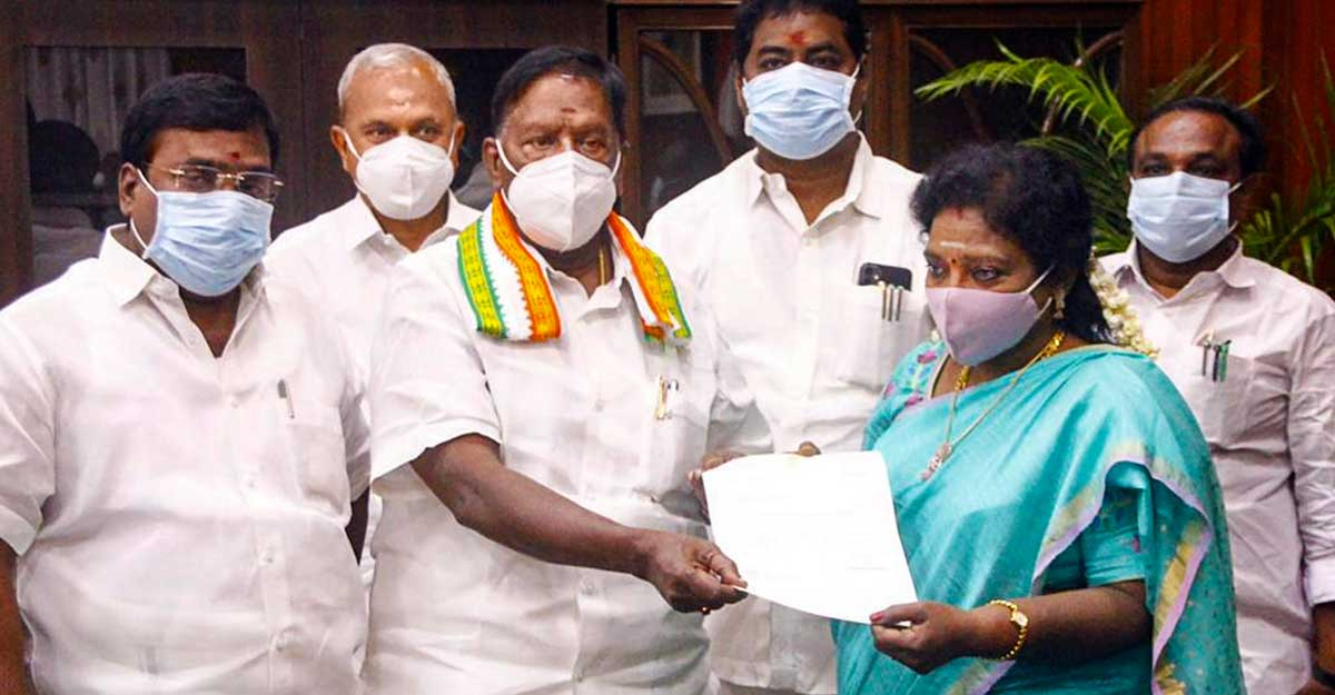 Congress loses Puducherry: CM Narayanasamy resigns, blames BJP, Kiren Bedi
