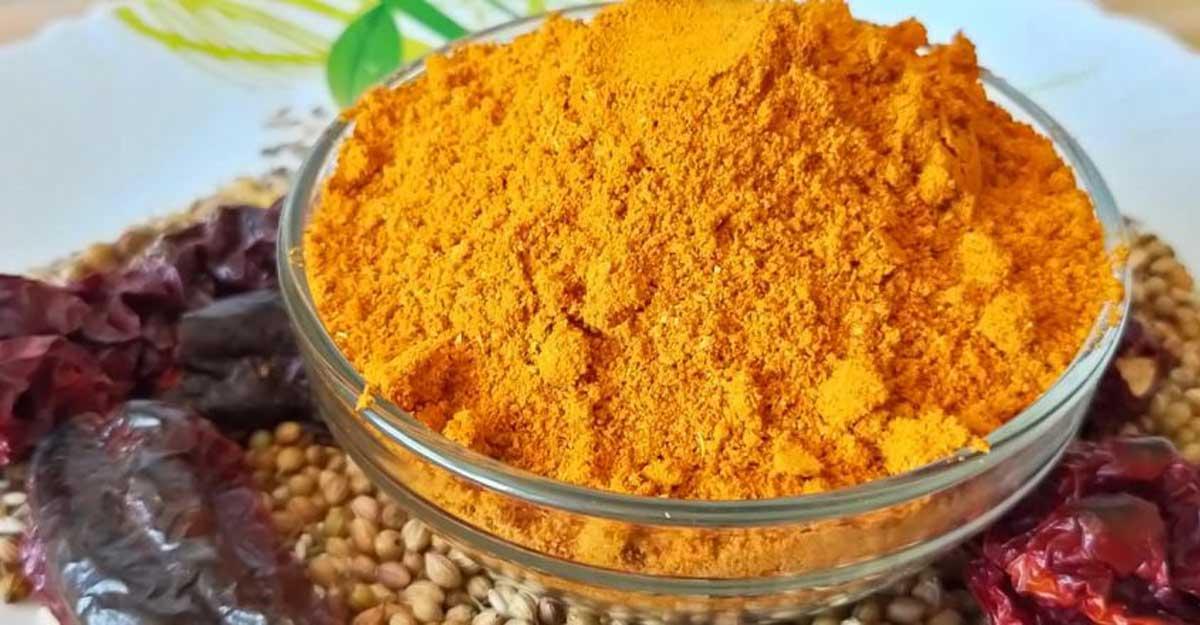 Make Tamil style sambar powder at home