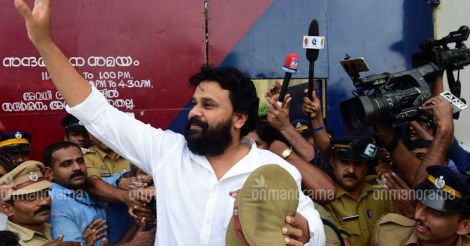 Fans cheer, festoons fly as Dileep walks out of jail