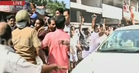 Row over FB post: CPM protest turns violent, Balram sustains injury