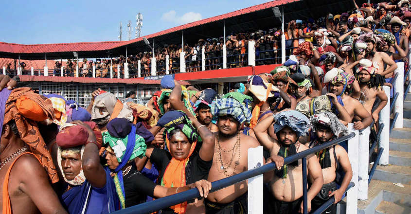 Heavy rush of pilgrims at Sabarimala temple as over 70,000 offer prayers in 2 days