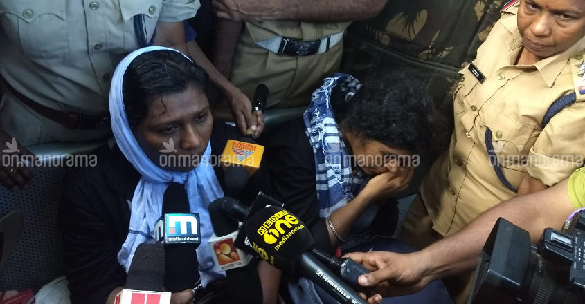 2 young women head to Sabarimala, protests break out