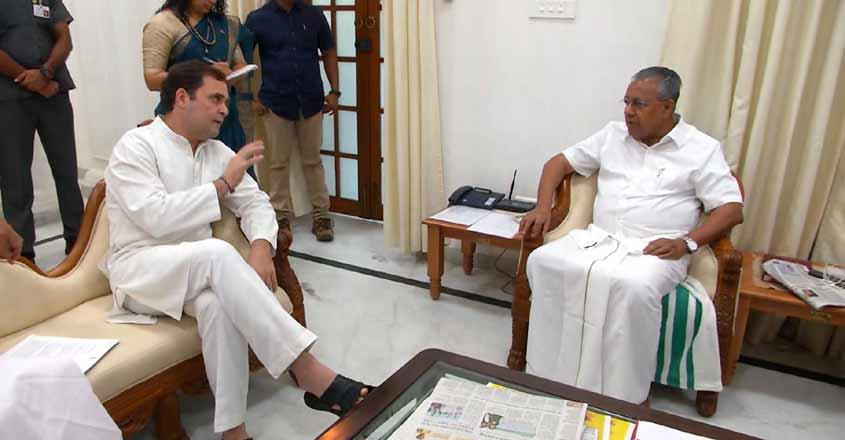 Night traffic ban on NH dominates Rahul Gandhi-Pinarayi talks
