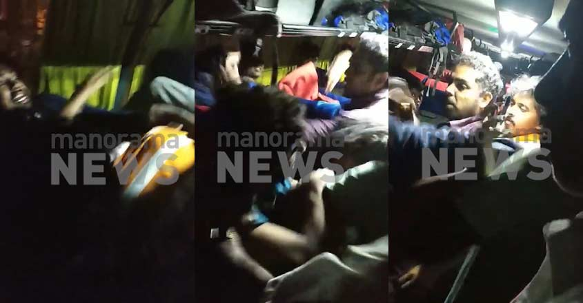 Clips of the fight which occured in Kallada bus