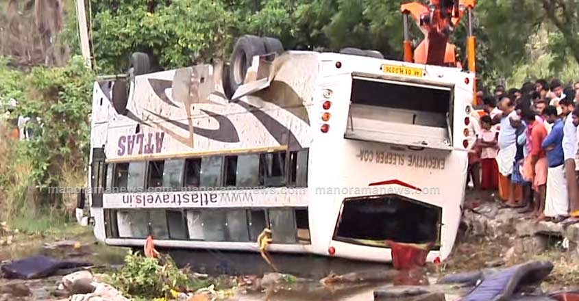18 injured as bus plunges into field in Palakkad