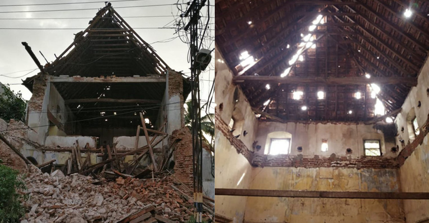Ancient synagogue of Black Jews in Kochi collapses in heavy rain