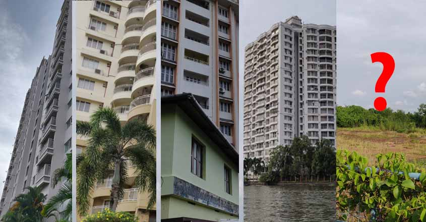 Of 5 Maradu apartments to be demolished, where is the 5th one?