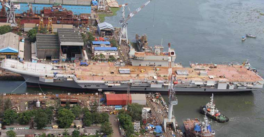 Hard drives stolen from INS Vikrant, under construction at Cochin Shipyard