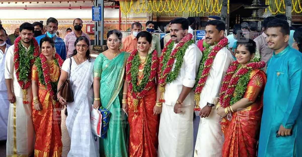 Three of the Kerala's quintuplets get married on the same day at Guruvayur