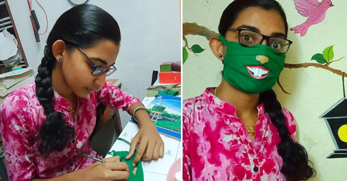 Little Stars | Alappuzha girl comes up with smiley masks to beat the lockdown blues