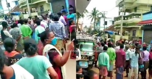 Coastal folk in Poonthura, where cases are multiplying, defy lockdown, fill streets