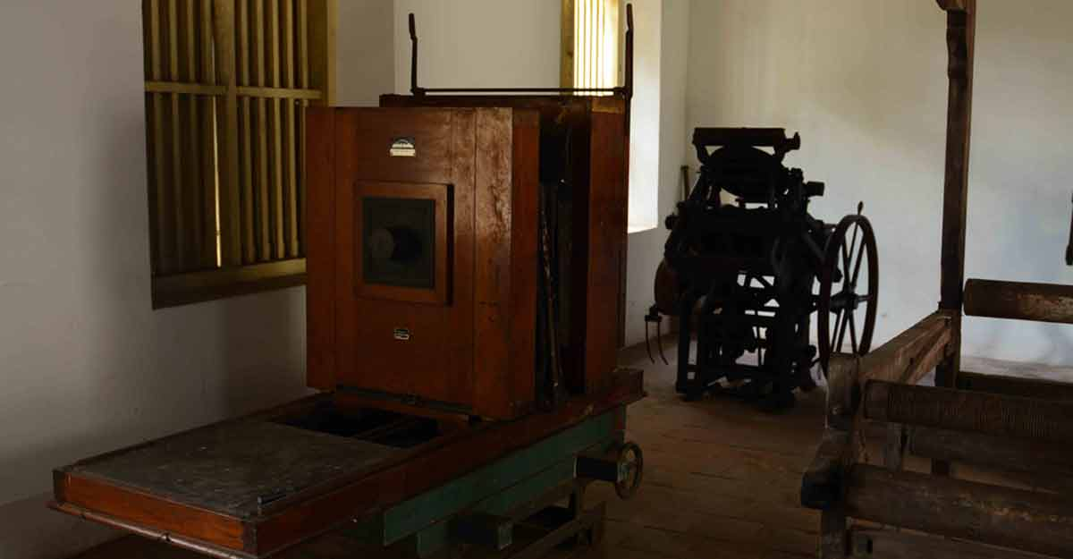 Old Printing Machine displayed at CMS Press, Kottayam