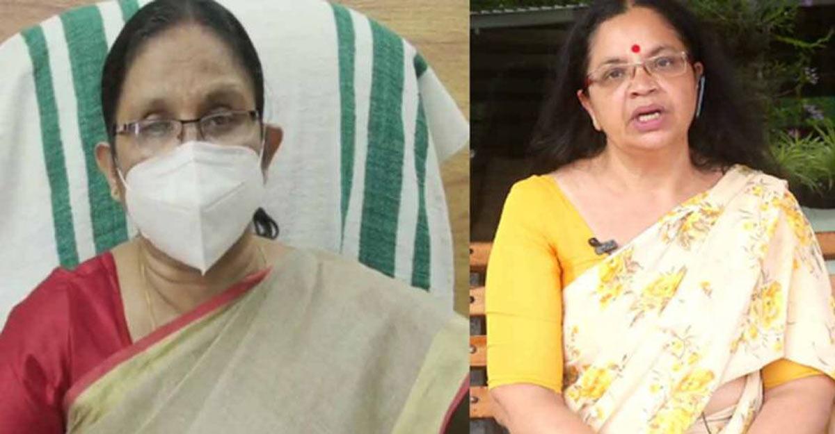Assault on YouTuber: Minister K K Shailaja supports Bhagyalakshmi and women activists