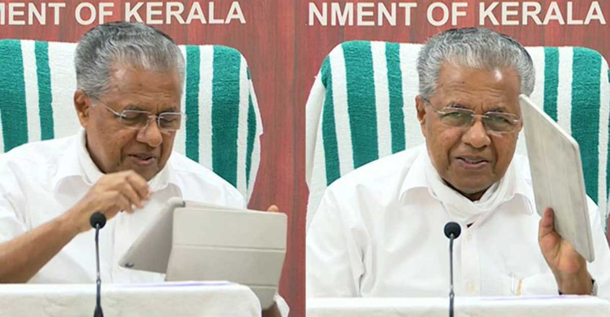 Pinarayi trashes impostor charge, says it is routine to dispose of files electronically