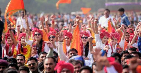 Rajput community holds massive protest against 'Padmavati'