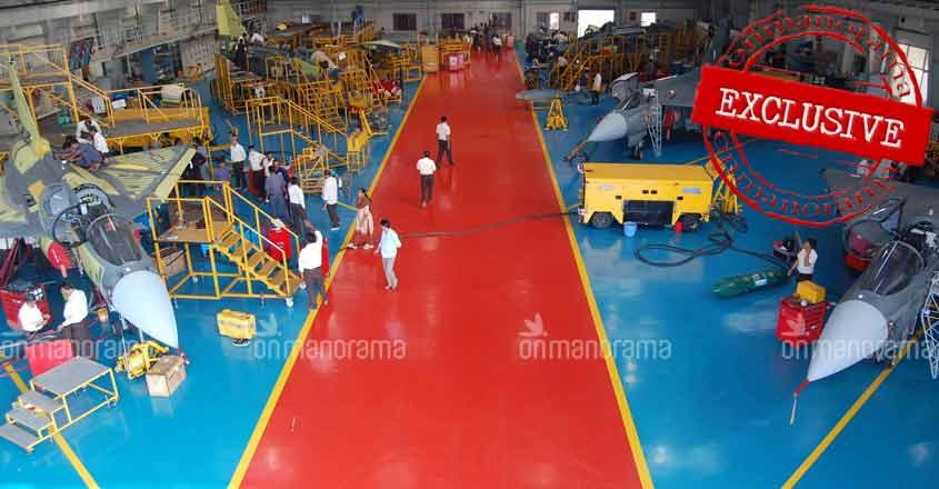 HAL Tejas production line