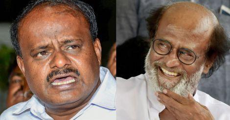Kumaraswamy invites Rajini to Karnataka to measure Cauvery water
