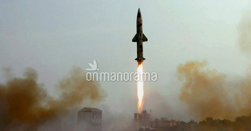 Indigenously developed nuclear capable Prithvi-2 missile successfully test-fired from Odisha coast