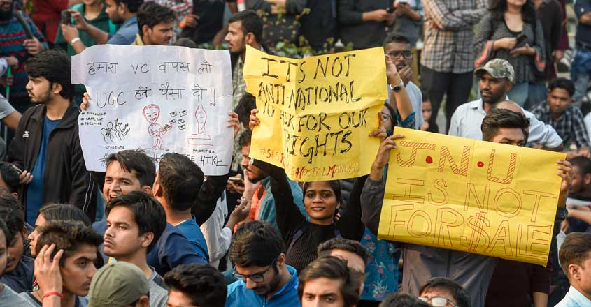 Fee hike will put cherished 'JNU dream' under threat, say students