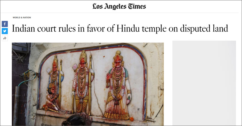 'Indian top court gives the holy site to Hindus': How international media covered Ayodhya verdict
