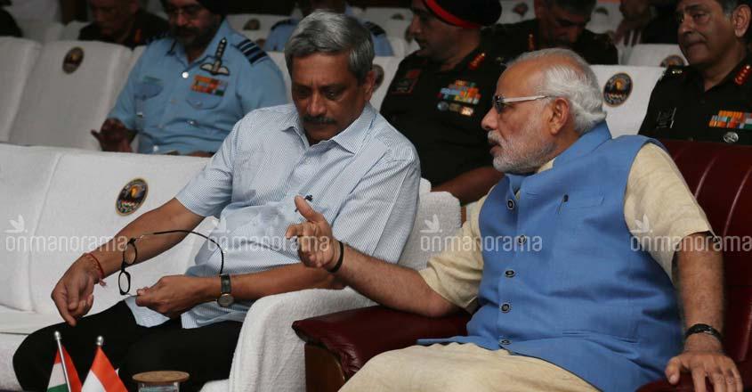 Parrikar with PM Modi.