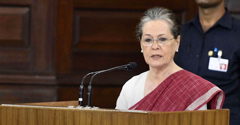 Sonia Gandhi elected leader of Congress Parliamentary Party