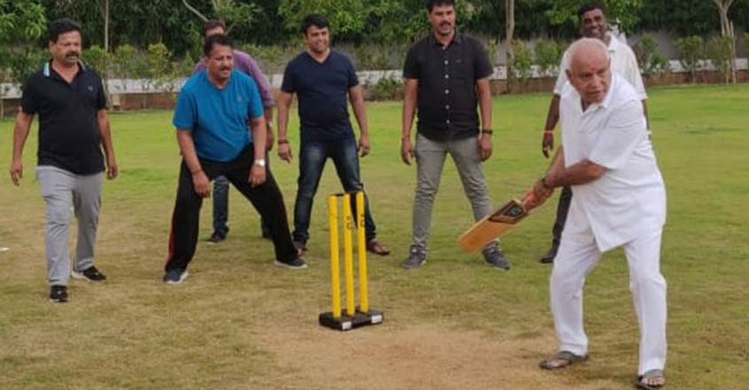 Yeddyurappa in a playful mood as Kumaraswamy govt stares at downfall