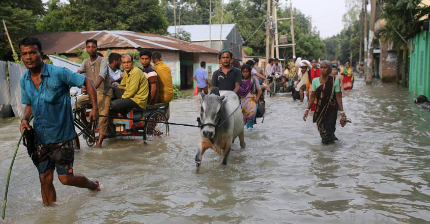 Floods in Assam force a million from their homes