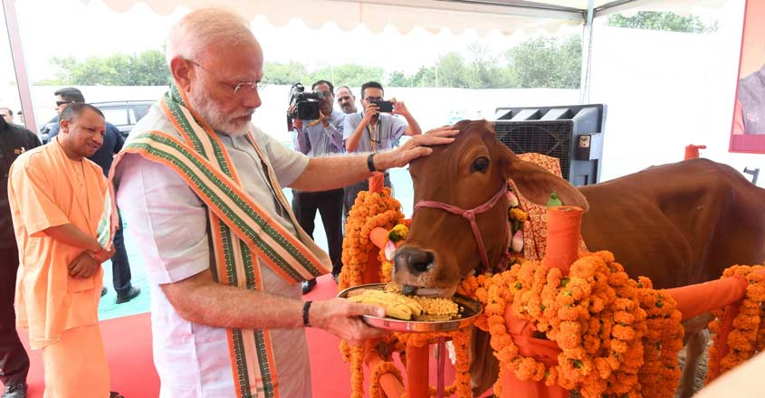 PM Modi says some feel 'Om' & 'cow' take India back to 16th century, opposition hits back