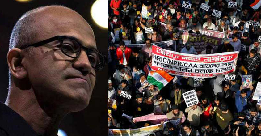 Microsoft CEO Nadella voices concern over CAA, hopes immigrants will lead MNCs in India