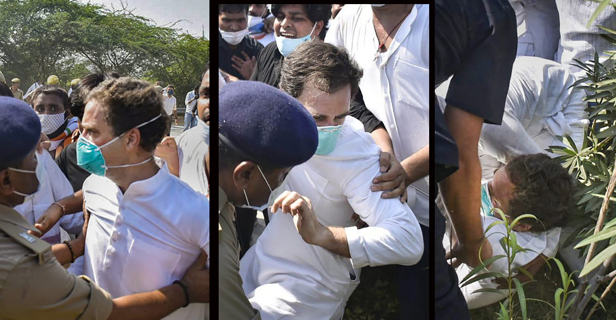 Rahul, Priyanka detained enroute to Hathras gang rape victim's home