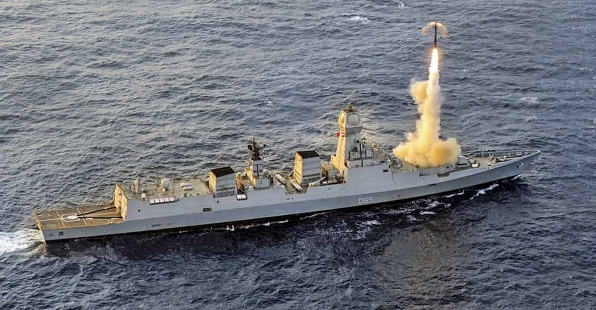 BrahMos again proves reliability with successful test-firing from INS Chennai
