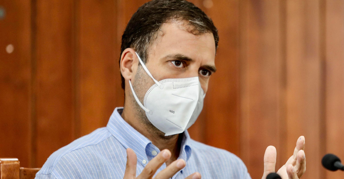 Congress MP Rahul Gandhi addresses the media during a visit to his parliamentary constituency Wayanad, Tuesday, Oct 20, 2020. (PTI Photo)