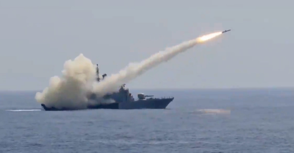 Navy demonstrates combat readiness, releases video of missile hitting target
