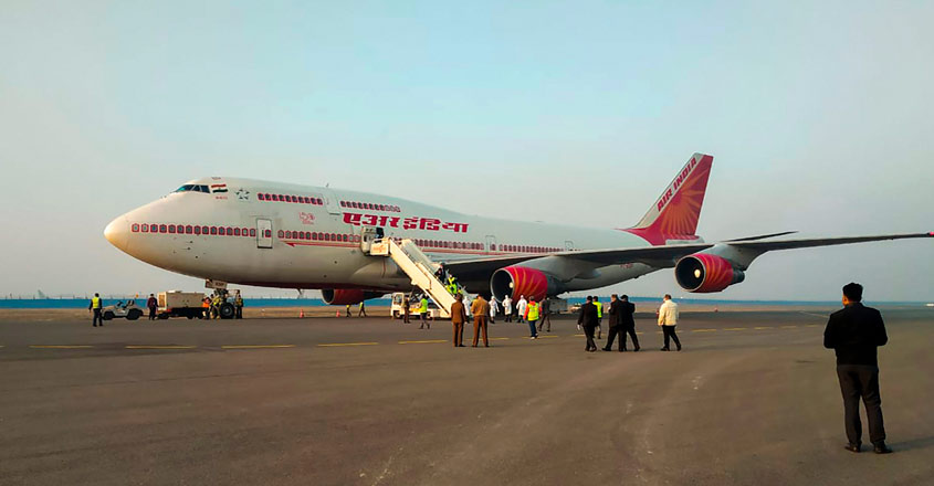 AI flight from Wuhan carrying 323 stranded Indians and 7 Maldivians reach Delhi Airport