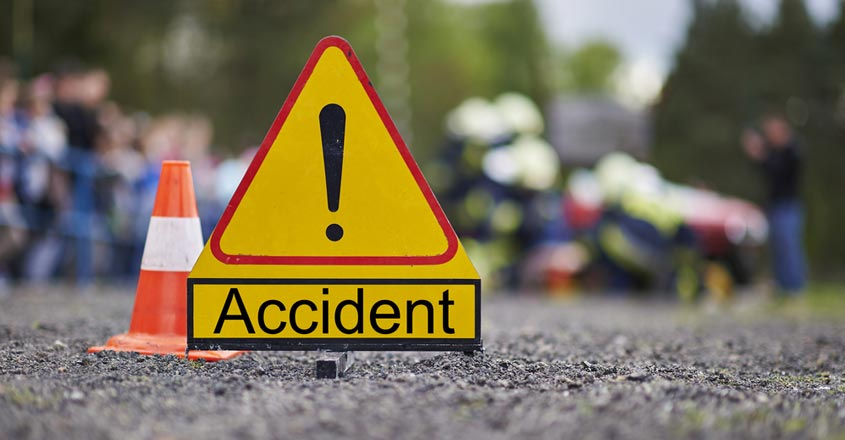 Road accident in Faridabad