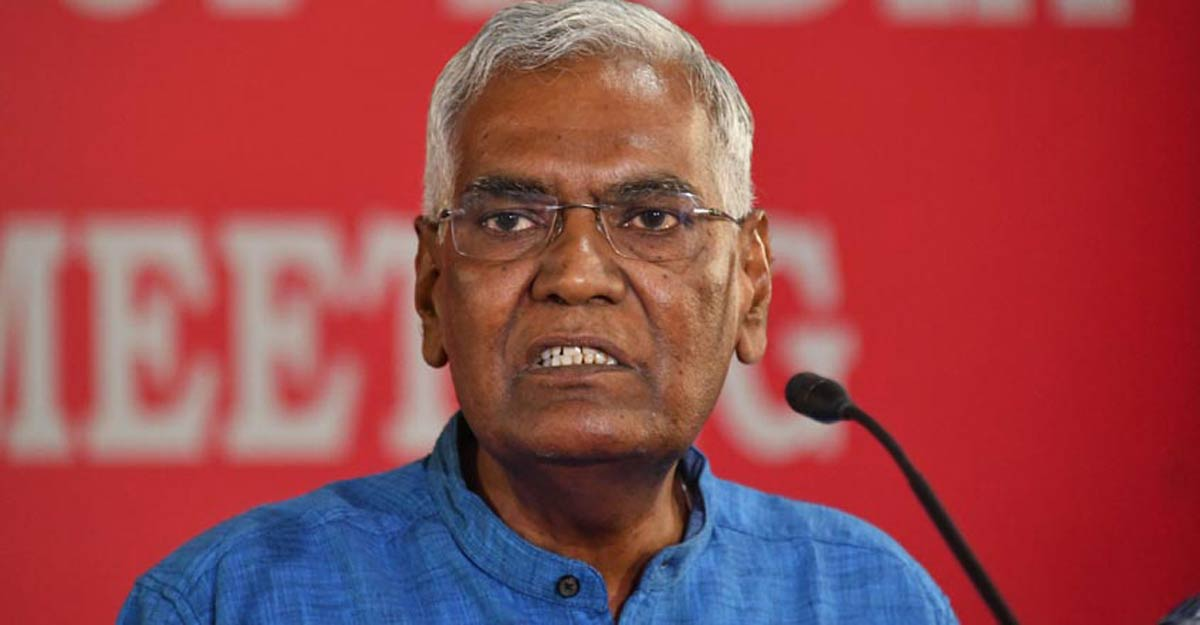 No one can question our patriotism, says CPI leader D Raja