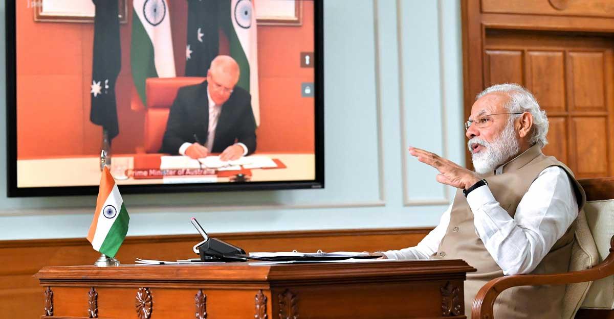 India, Australia ink landmark defence pact, decide to elevate ties during Modi-Morrison online summit