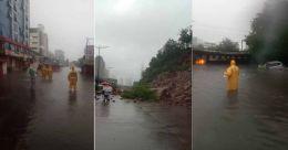 Heavy rain lashes Mumbai: local train services, road traffic hit