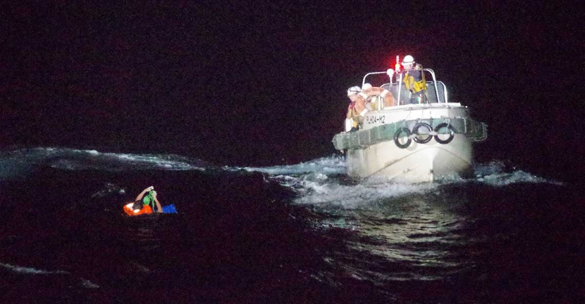 Cattle ship with 42 crew capsized in storm off Japan, rescued crewman says