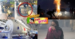 Tiny Bytes: Chinese sky lab, Delhi pollution, snakes on a train, and more