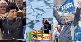 Tiny Bytes: Polar vortex, Union budget, Golden Globe race winner and more