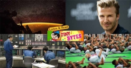 Tiny Bytes: Yoga Day, Thai temple for Beckham and more